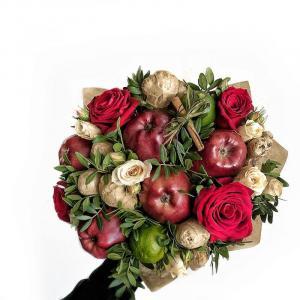 Букет Яблочно-имбирный чизкейк с яблоками и корицей