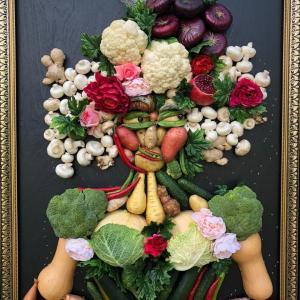 Женский портрет из овощей