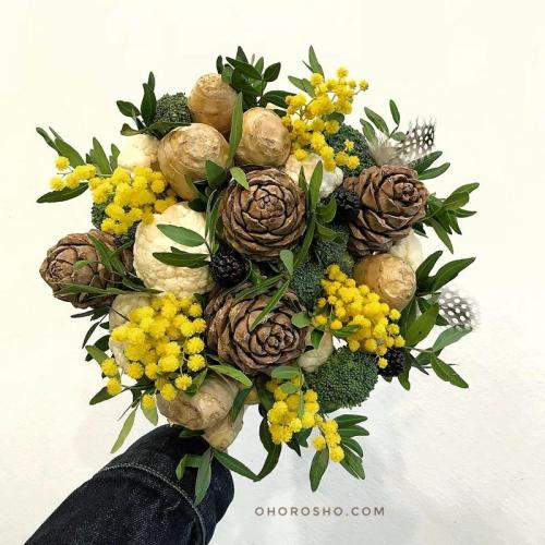 Букет Мимими, мимоза с капустой и имбирем