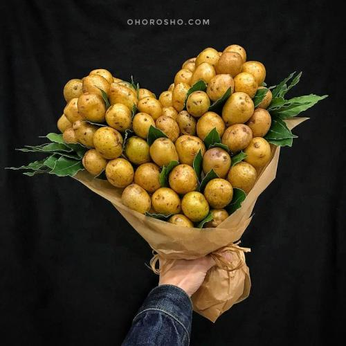 букет Сердце белоруса с картошкой и лавровым листом