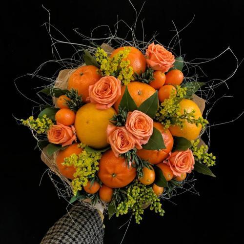 Мандариновый фреш - букет с мандаринами и кумкватами