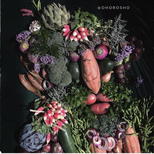 Портрет Цыган из овощей